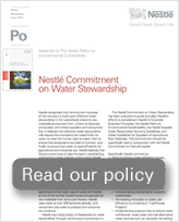 Nestlé Commitment on Water Stewardship